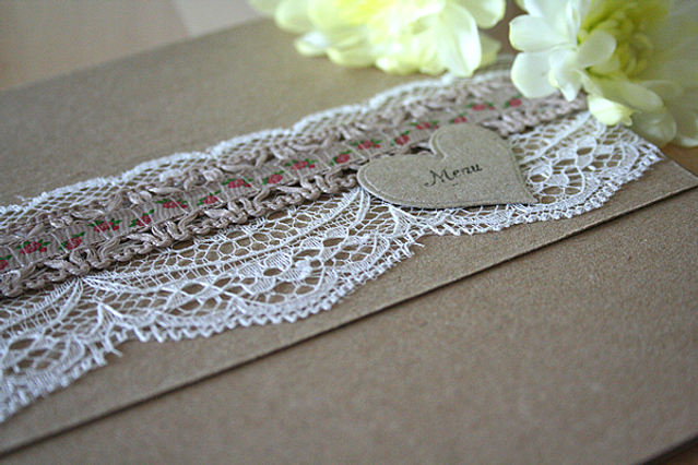 Capercaillie Cards - Wedding menu - Floral Kraft