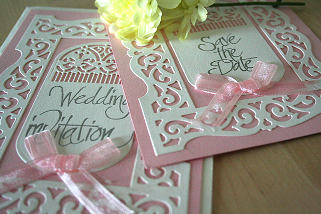 Capercaillie Cards - Wedding stationary - Flourish Frame