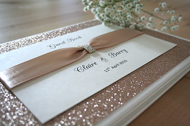 Capercaillie Cards - Wedding guest book - Rose Gold