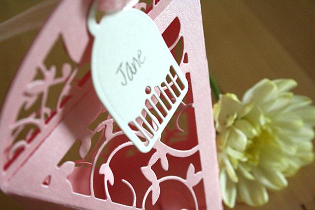 Capercaillie Cards - Wedding favour box - Floral Favour Box