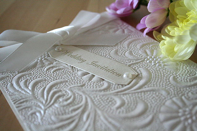 Capercaillie Cards - Wedding invitation card - Classy In Emboss