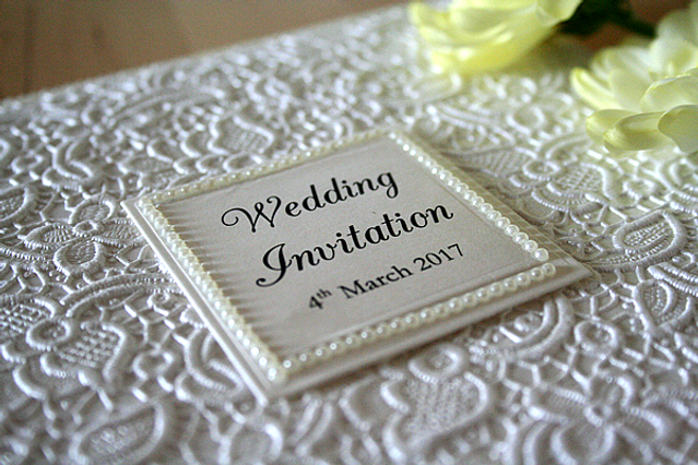 Capercaillie Cards - Wedding invitation card - So Chic In Lace