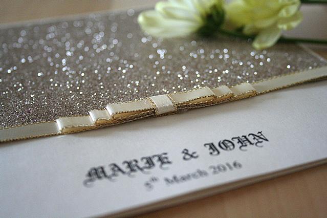 Capercaillie Cards - Wedding invitation card - Elegant In Glitter