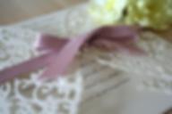 Capercaillie Cards - Wedding invitation card - Butterfly Border
