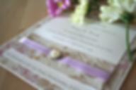 Cappercaillie Cards Freya wedding invitation card
