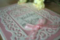 Cappercaillie Cards Flourish Frame wedding invitation card