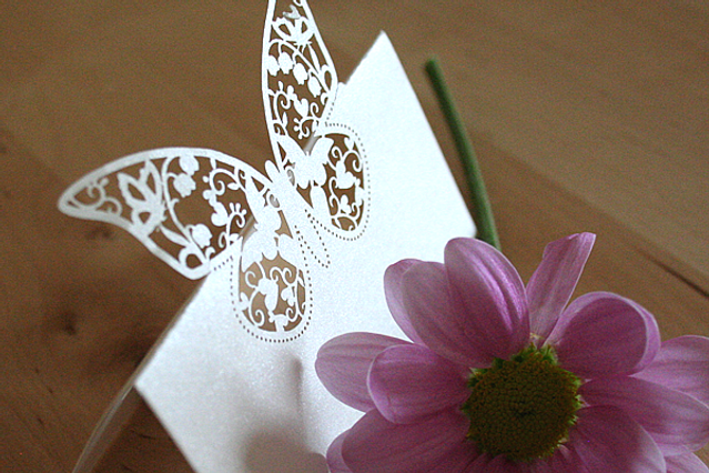 Capercaillie Cards - Wedding name place card - Butterfly
