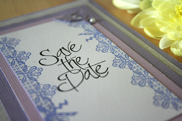 Capercaillie Cards - Wedding save the date - Lavinia Lace