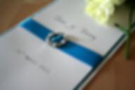 Capercaillie Cards - Wedding invitation card - Aqua Glitter