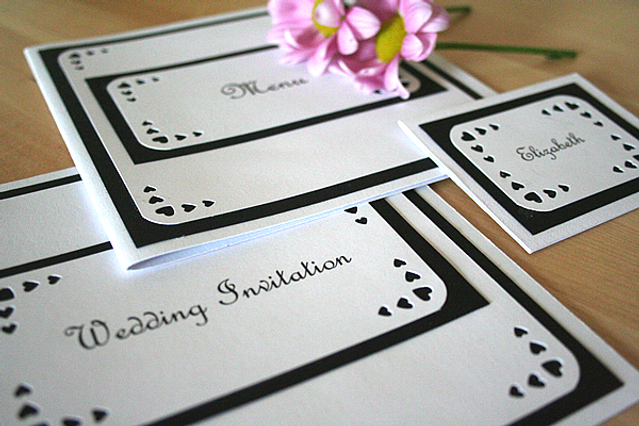 Capercaillie Cards - Wedding stationary - Love Heart Border