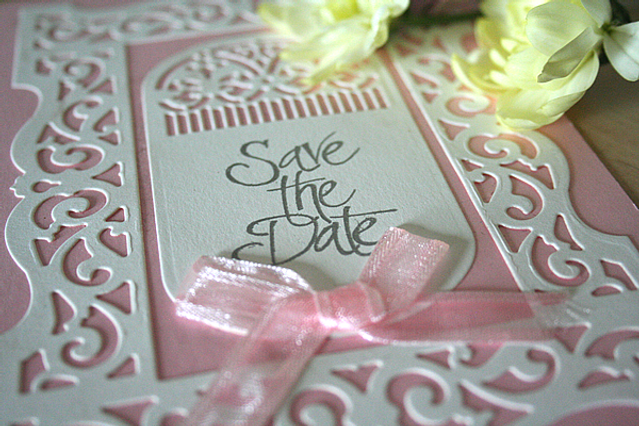 Capercaillie Cards - Wedding save the date - Flourish Frame