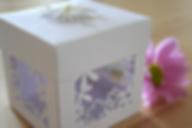 Capercaillie Cards - Wedding favour box - Honey Blossom