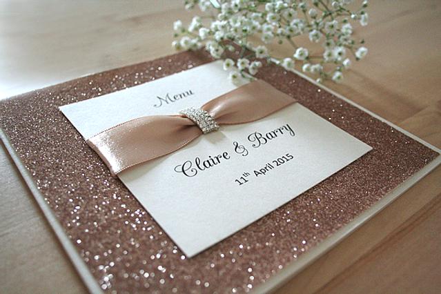 Capercaillie Cards - Wedding menu - Rose Gold