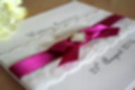Cappercaillie Cards Amelia wedding invitation card