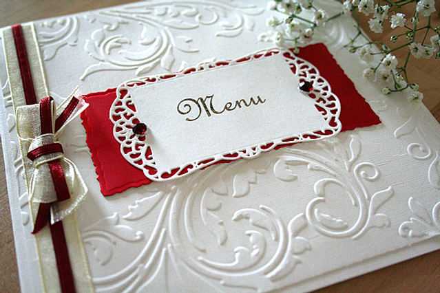 Capercaillie Cards - Wedding menu - Claire