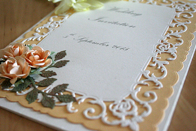 Capercaillie Cards - Wedding invitation card - Romantic Rose