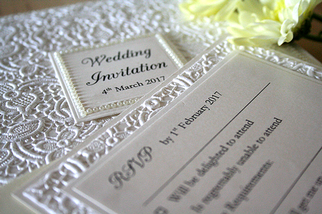 Capercaillie Cards - Wedding stationary - So Chic In Lace