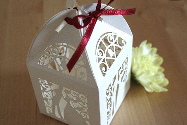 Capercaillie Cards - Wedding favour box - Bride & Groom