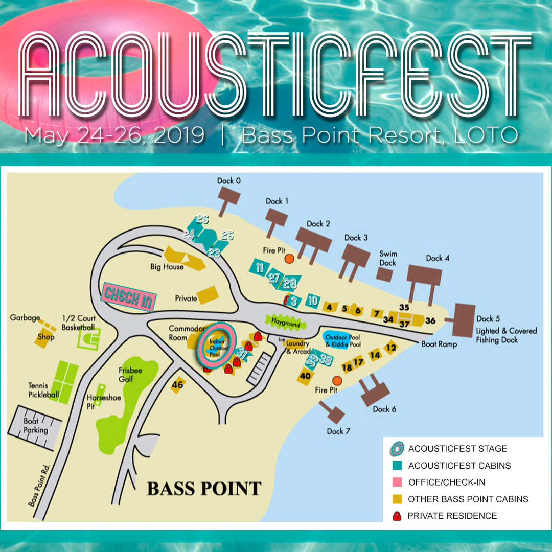 Map of AcousticFest