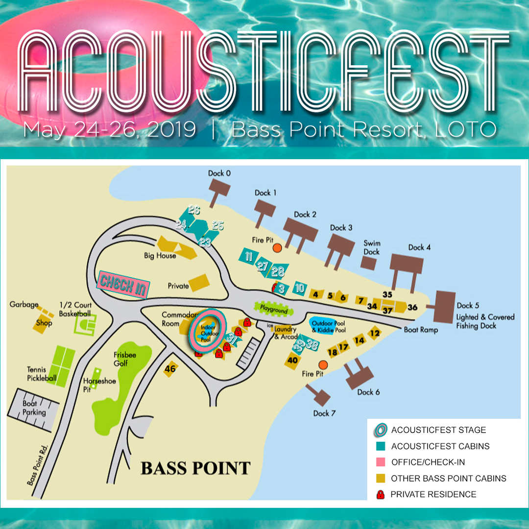 Map of AcousticFest