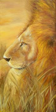 In-the-Wild-Lion-in-Grass-Painting-Bust-