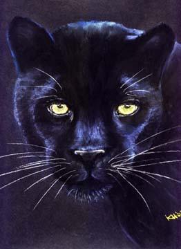 Night-Gaze-Black-Panther-Painting-Bust-P