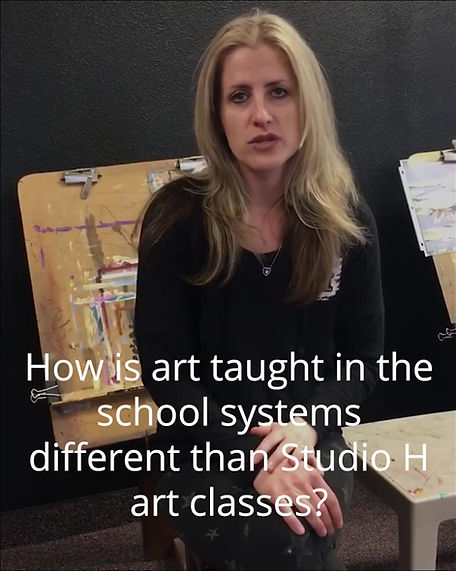 Non-curriculum art classes for kids. Individualized self-expression programs.