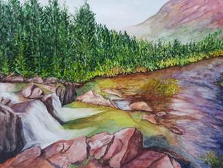 Waterfall-Stream-Rocky-Shoreline-Landsca