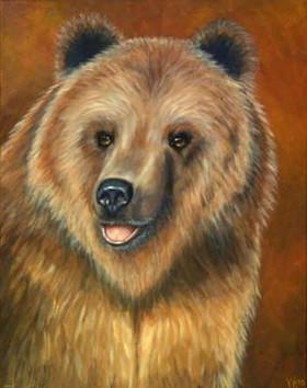 Big-Bear-Brown-Bear-Painting-Bust-Portra
