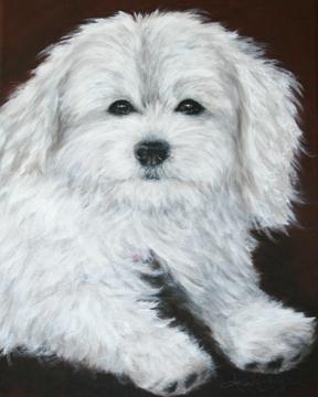 Petal-White-Dog-Painting-Pet-Portrait