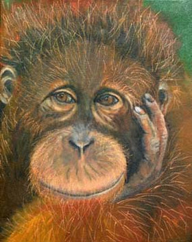 Deep-Thoughts-Monkey-Painting-Bust-Portr