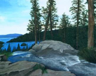 Emerald-Bay-Mountain-Lake-Landscape-Pain