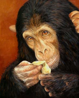 Insight-Monkey-Eating-Painting-Bust-Port