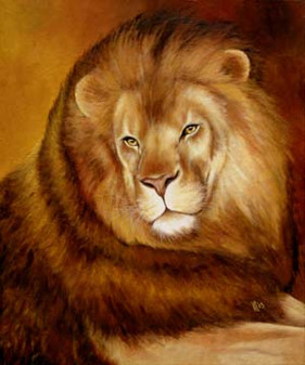 His-Majesty-Nobel-Lion-Painting-Bust-Por