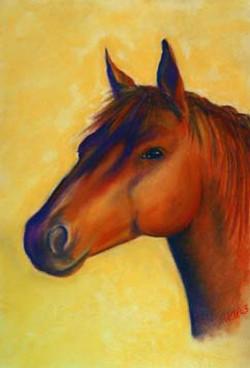 Chestnut-Horse-Painting-Pet-Portrait