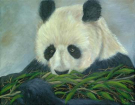 Snack-Time-Panda-Painting-Bust-Portrait.