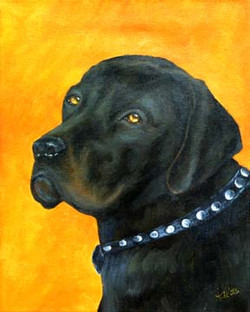 Thor-Black-Labrador-Dog-Painting-Pet-Por
