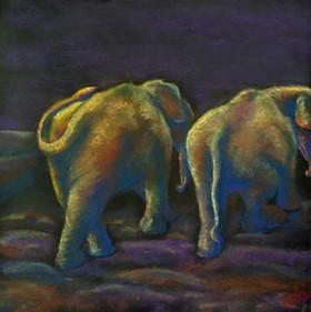 Lunch-Break-Elephants-from-Behind-Painti