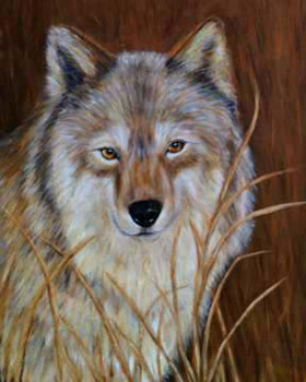 Observation-Wolf-Painting-Bust-Portrait.