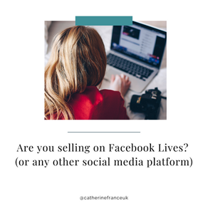 Are you selling on Facebook or Instagram Lives?