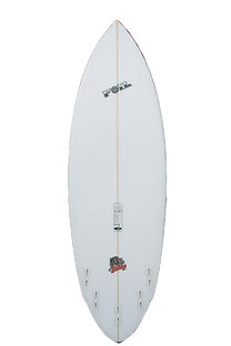 "6'2"" Short board surfboard with FCS II fins"