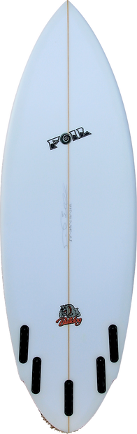 "5'8"" FOIL ""The Bulldog"" short board surf"