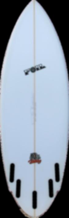 5'8_ FOIL _The Bulldog_ short board surf