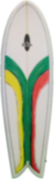 "6'0"" Retro Fish Surfboard"