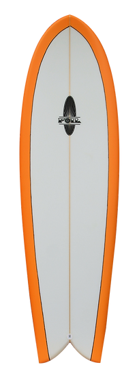 "5'8"" FOIL Retro Fish Surfboard"