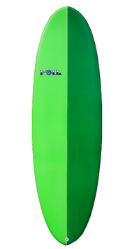 Green Mini Longboard Surfboard