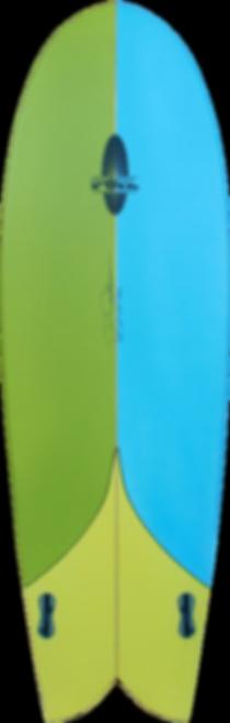 "5'8"" Retro Fish surfboard"