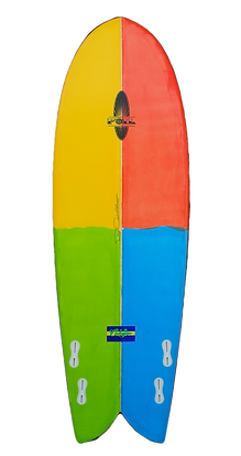 Quad Fish Surfboard