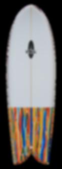 """5'6"""" FOIL Retro Fish Surfboard"""