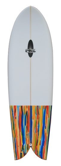 "5'6"" FOIL Retro Fish Surfboard"